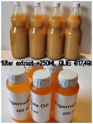 1 literTijgernoten extract & 250ml tijgernoten olie DEAL